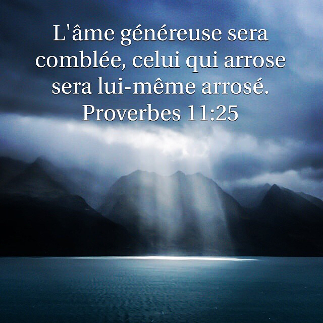 Proverbes 11:25