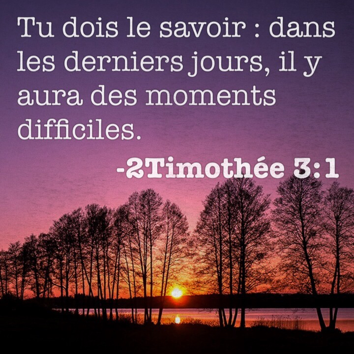 2 Timothée 3:1