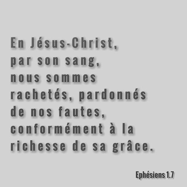Ephésiens 1:7