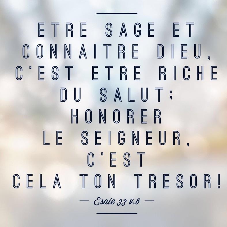 Esaïe 33:6