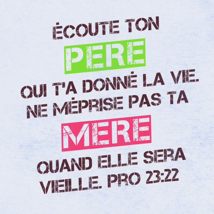 Proverbes 23:22