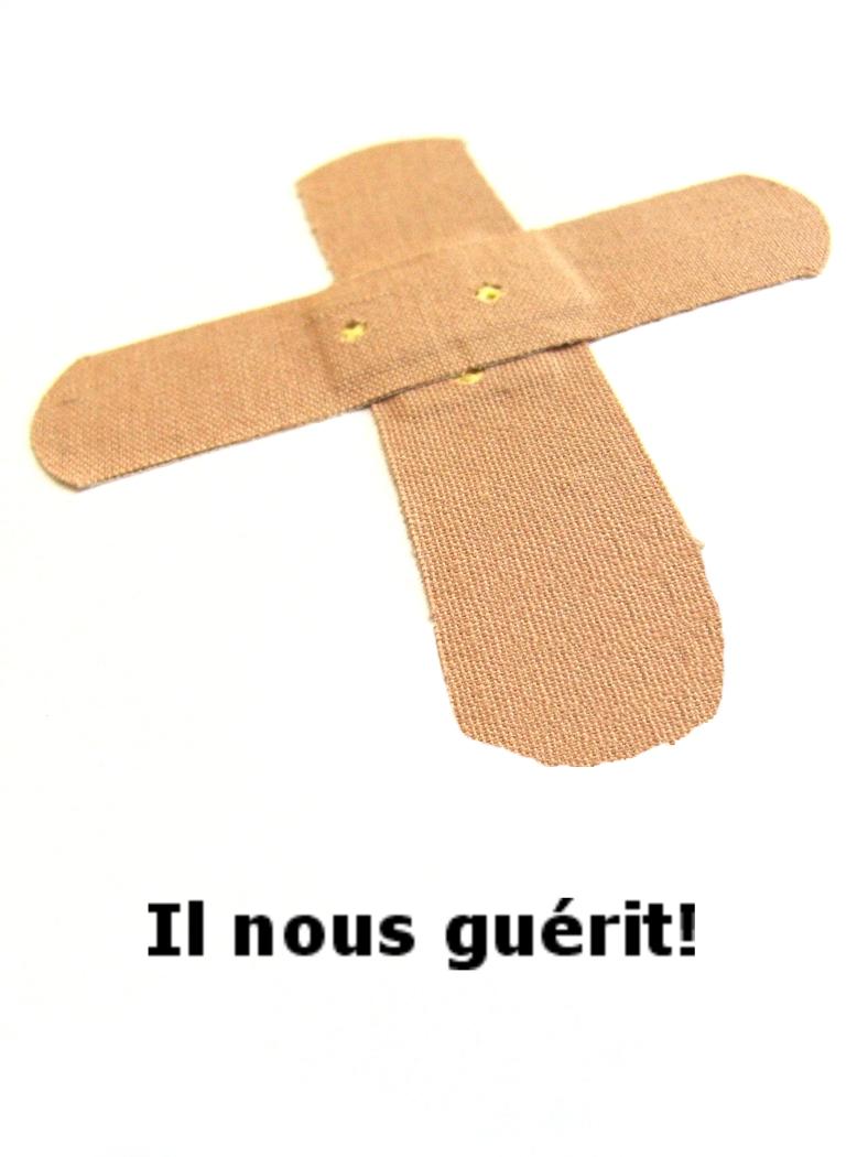 Citation - croix, sparadrap, guérit