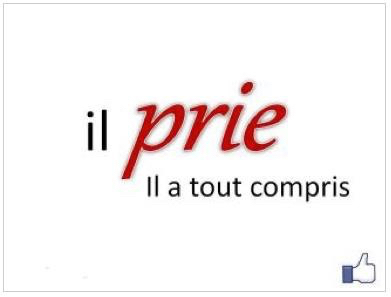 Citation - il prie