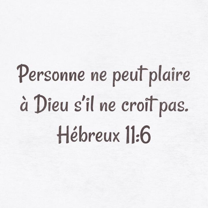 Hébreux 11:6
