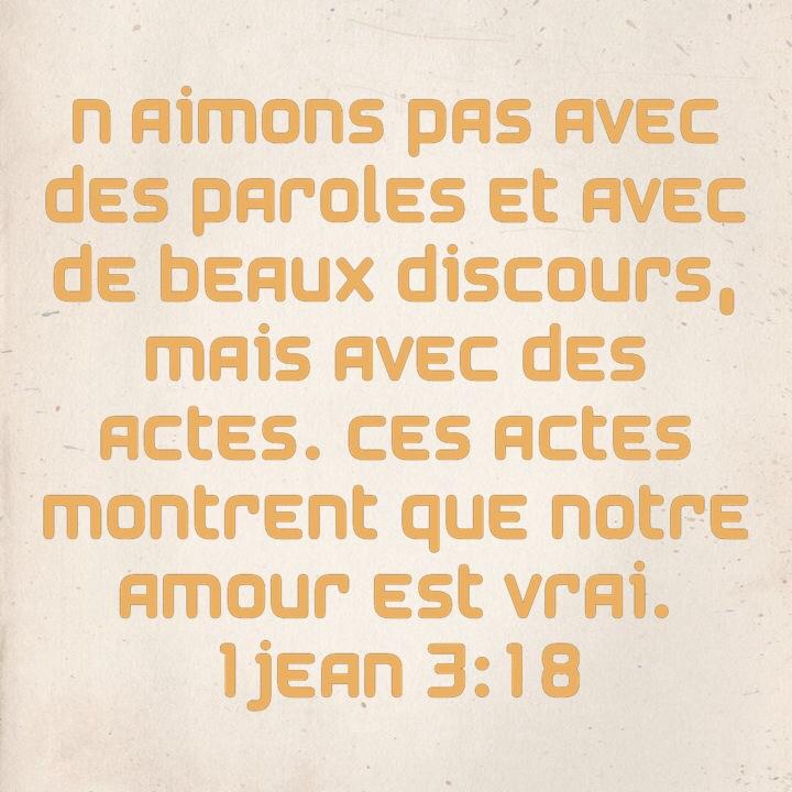 1 Jean 3:18