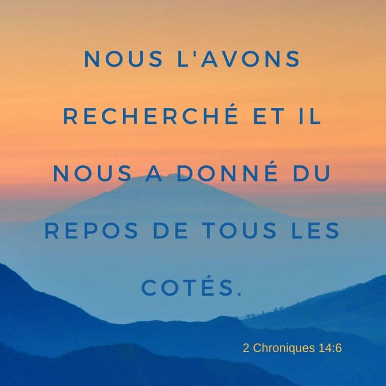 2 Chroniques 14:6