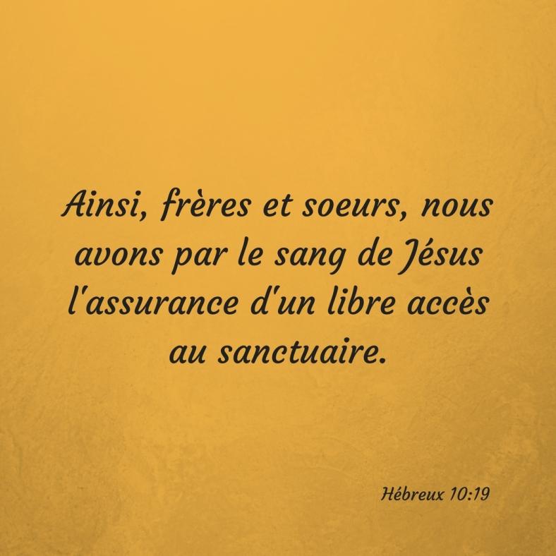 Hébreux 10:19