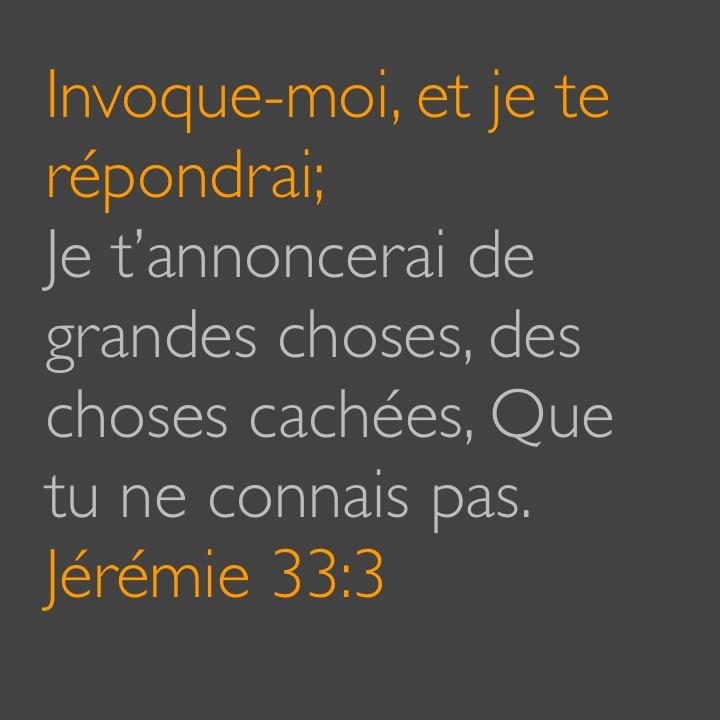 Jérémie 33:3