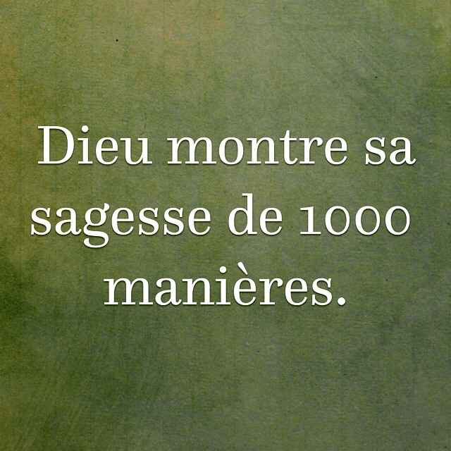 Citation - Sagesse de Dieu