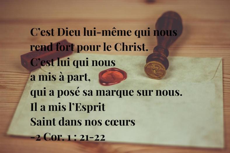 D£ieu, Jésus, Saint-Esprit, 2Corinthiens