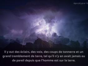 orage, Apocalypse, lumière