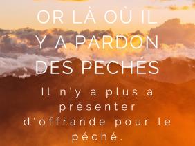 Hébreux 10 - Pardon, liberté