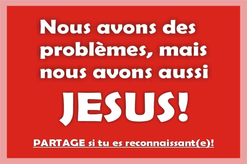 problèmes, Jésus, solution