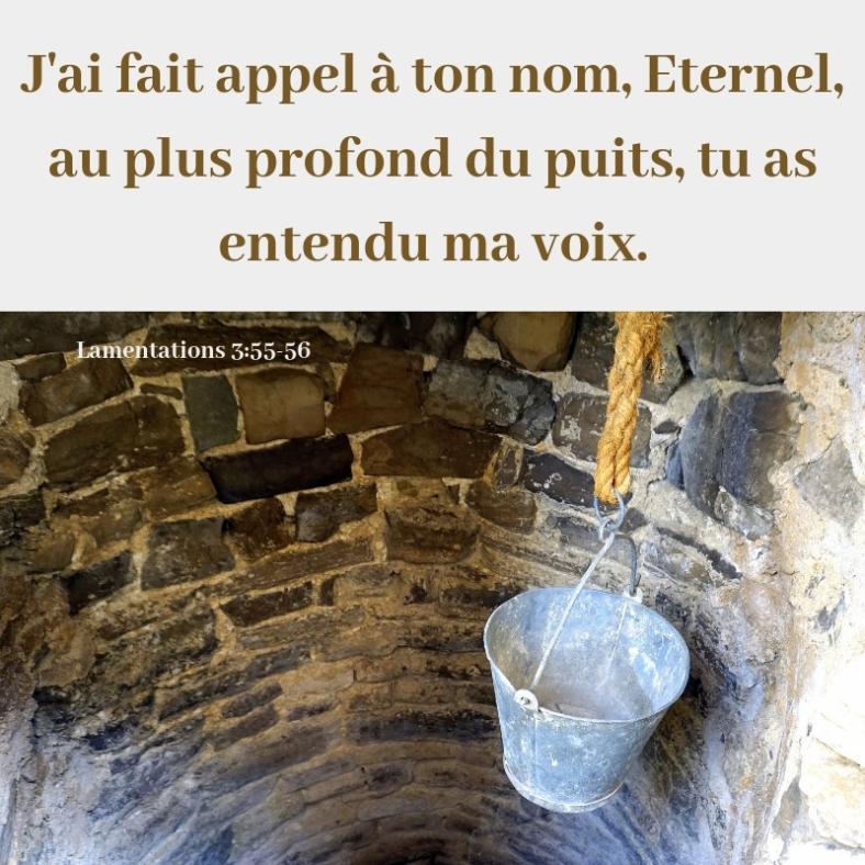 puits, profond, voix