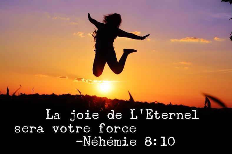 joie, Dieu, force