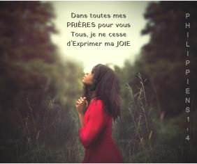 prières, joie