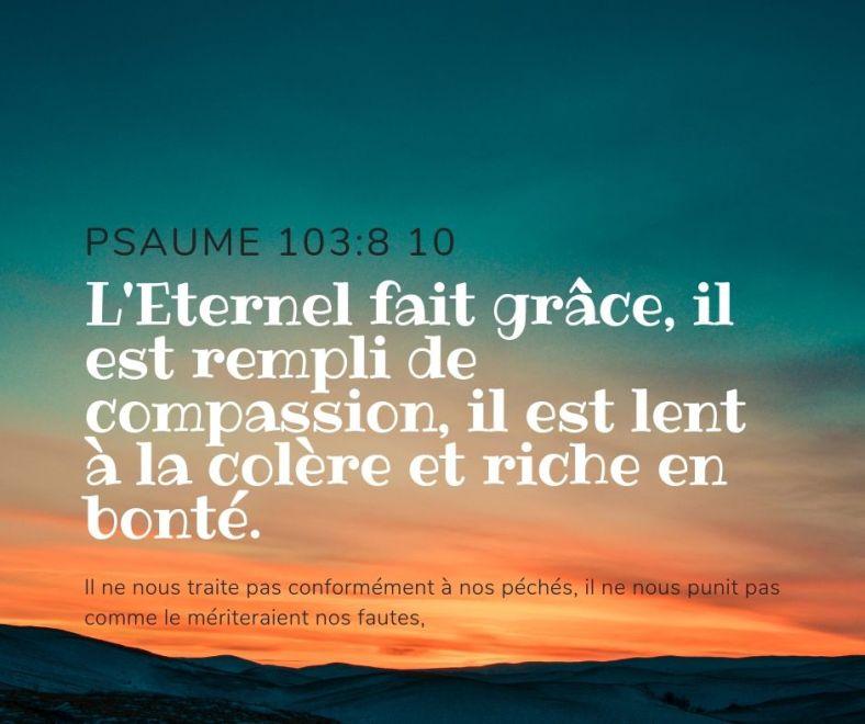 Psaume 103:8&10