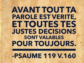 Psaume 119:160