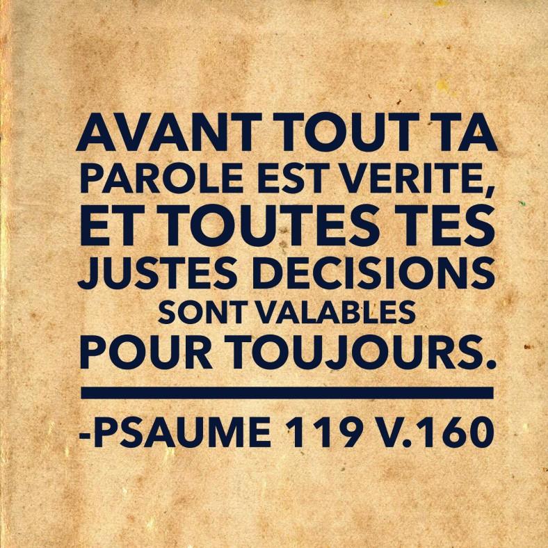 Psaume 119:160