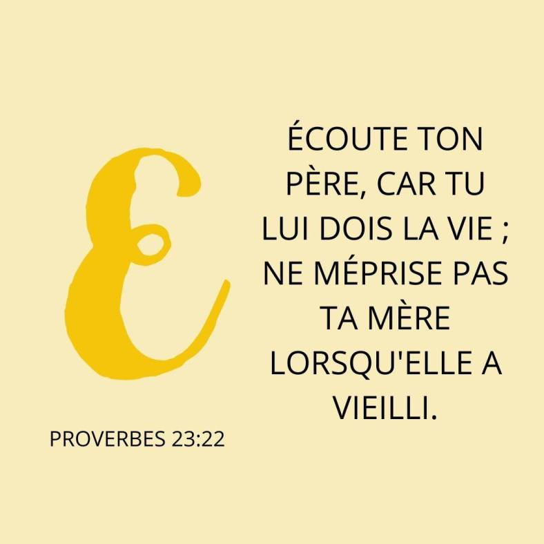 Proverbes 23:22